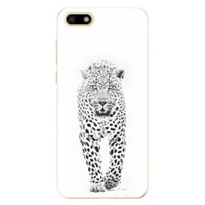 Odolné silikónové puzdro iSaprio - White Jaguar - Huawei Y5 2018
