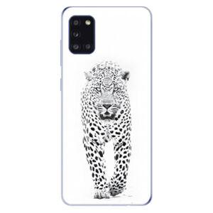 Odolné silikónové puzdro iSaprio - White Jaguar - Samsung Galaxy A31