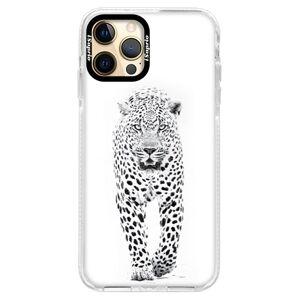 Silikónové puzdro Bumper iSaprio - White Jaguar - iPhone 12 Pro