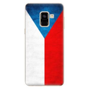 Odolné silikónové puzdro iSaprio - Czech Flag - Samsung Galaxy A8 2018