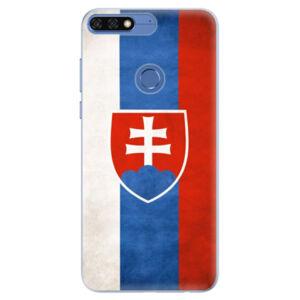 Silikónové puzdro iSaprio - Slovakia Flag - Huawei Honor 7C