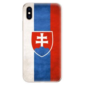 Odolné silikónové puzdro iSaprio - Slovakia Flag - iPhone XS