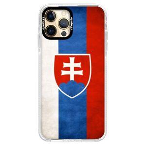 Silikónové puzdro Bumper iSaprio - Slovakia Flag - iPhone 12 Pro