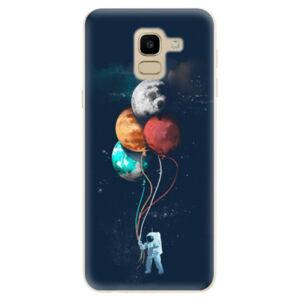 Odolné silikónové puzdro iSaprio - Balloons 02 - Samsung Galaxy J6