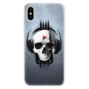 Silikónové puzdro iSaprio - Skeleton M - iPhone X
