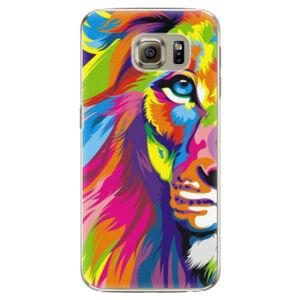 Plastové puzdro iSaprio - Rainbow Lion - Samsung Galaxy S6 Edge Plus