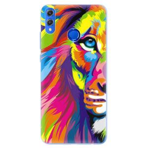 Silikónové puzdro iSaprio - Rainbow Lion - Huawei Honor 8X