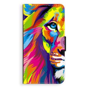 Flipové puzdro iSaprio - Rainbow Lion - iPhone XS Max