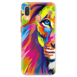 Plastové puzdro iSaprio - Rainbow Lion - Samsung Galaxy A40