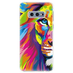 Plastové puzdro iSaprio - Rainbow Lion - Samsung Galaxy S10e