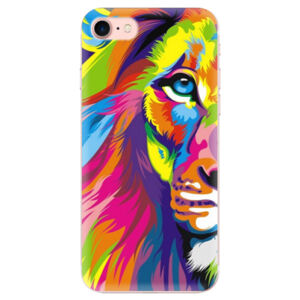 Odolné silikónové puzdro iSaprio - Rainbow Lion - iPhone 7