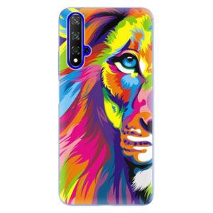 Odolné silikónové puzdro iSaprio - Rainbow Lion - Huawei Honor 20