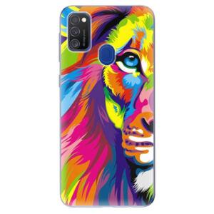 Odolné silikónové puzdro iSaprio - Rainbow Lion - Samsung Galaxy M21
