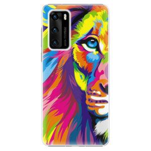 Plastové puzdro iSaprio - Rainbow Lion - Huawei P40