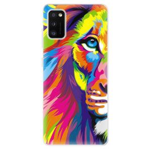 Odolné silikónové puzdro iSaprio - Rainbow Lion - Samsung Galaxy A41