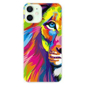 Odolné silikónové puzdro iSaprio - Rainbow Lion - iPhone 12 mini