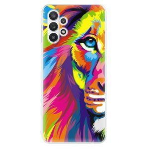 Odolné silikónové puzdro iSaprio - Rainbow Lion - Samsung Galaxy A32