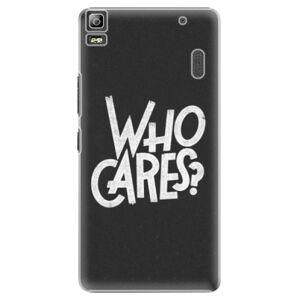 Plastové puzdro iSaprio - Who Cares - Lenovo A7000