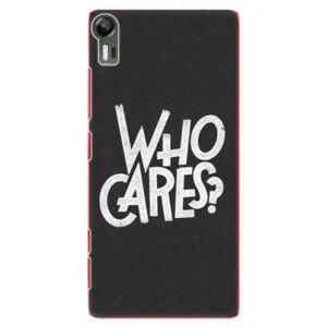 Plastové puzdro iSaprio - Who Cares - Lenovo Vibe Shot