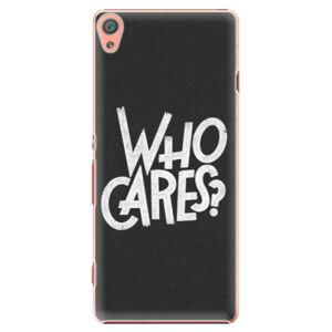 Plastové puzdro iSaprio - Who Cares - Sony Xperia XA