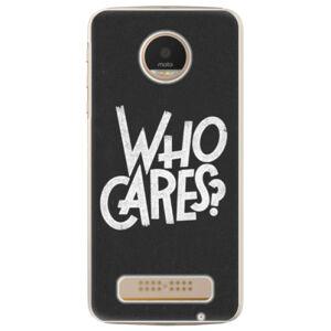 Plastové puzdro iSaprio - Who Cares - Lenovo Moto Z Play