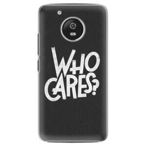 Plastové puzdro iSaprio - Who Cares - Lenovo Moto G5