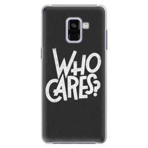 Plastové puzdro iSaprio - Who Cares - Samsung Galaxy A8+