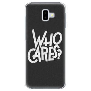 Plastové puzdro iSaprio - Who Cares - Samsung Galaxy J6+
