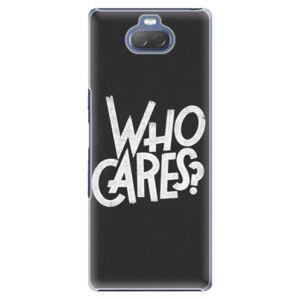Plastové puzdro iSaprio - Who Cares - Sony Xperia 10 Plus