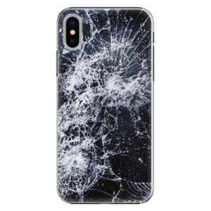 Plastové puzdro iSaprio - Cracked - iPhone X