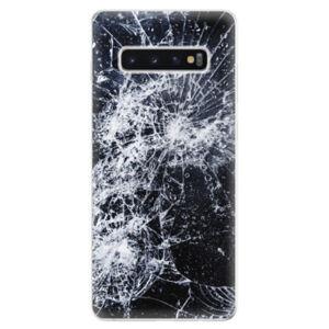 Odolné silikonové pouzdro iSaprio - Cracked - Samsung Galaxy S10+