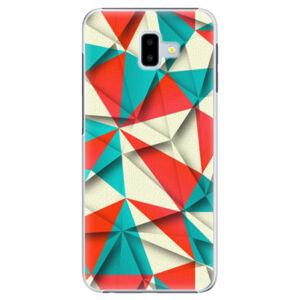 Plastové puzdro iSaprio - Origami Triangles - Samsung Galaxy J6+