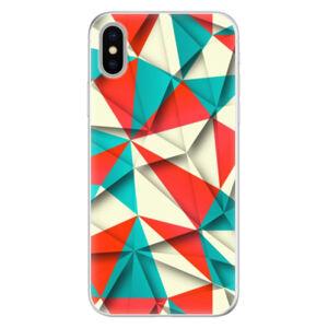 Silikónové puzdro iSaprio - Origami Triangles - iPhone X