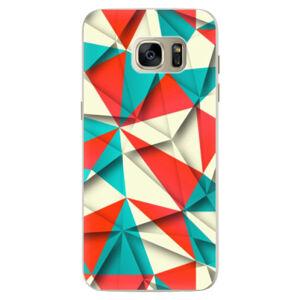 Silikónové puzdro iSaprio - Origami Triangles - Samsung Galaxy S7 Edge
