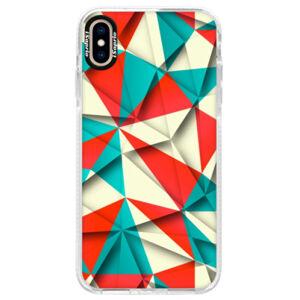 Silikónové púzdro Bumper iSaprio - Origami Triangles - iPhone XS Max