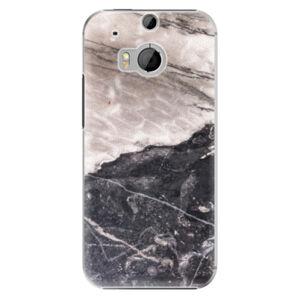 Plastové puzdro iSaprio - BW Marble - HTC One M8