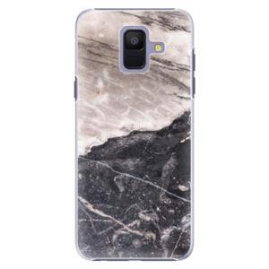 Plastové puzdro iSaprio - BW Marble - Samsung Galaxy A6