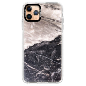 Silikónové puzdro Bumper iSaprio - BW Marble - iPhone 11 Pro Max