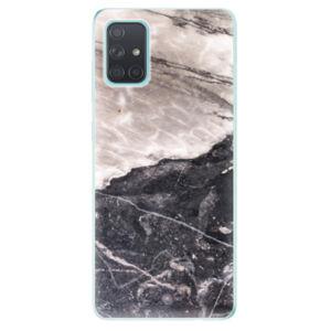 Odolné silikónové puzdro iSaprio - BW Marble - Samsung Galaxy A71