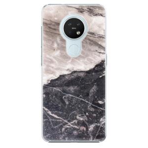 Plastové puzdro iSaprio - BW Marble - Nokia 7.2