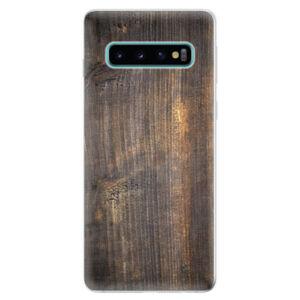 Odolné silikonové pouzdro iSaprio - Old Wood - Samsung Galaxy S10