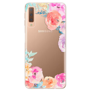 Odolné silikónové puzdro iSaprio - Flower Brush - Samsung Galaxy A7 (2018)