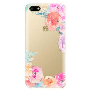 Odolné silikónové puzdro iSaprio - Flower Brush - Huawei Y5 2018