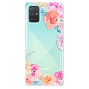 Odolné silikónové puzdro iSaprio - Flower Brush - Samsung Galaxy A71