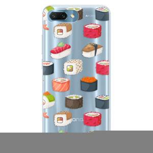 Silikónové puzdro iSaprio - Sushi Pattern - Huawei Honor 10