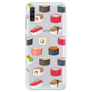 Plastové puzdro iSaprio - Sushi Pattern - Samsung Galaxy A70