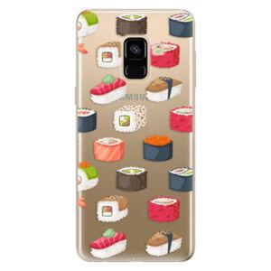 Odolné silikónové puzdro iSaprio - Sushi Pattern - Samsung Galaxy A8 2018