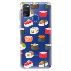 Odolné silikónové puzdro iSaprio - Sushi Pattern - Samsung Galaxy M21
