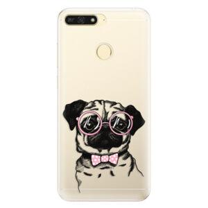 Silikónové puzdro iSaprio - The Pug - Huawei Honor 7A