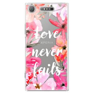 Plastové puzdro iSaprio - Love Never Fails - Sony Xperia XZ1